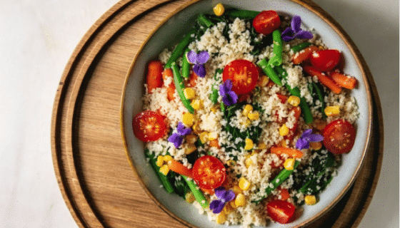moroccan spiced veggies couscous